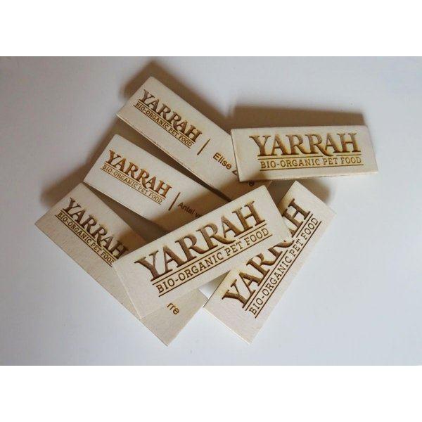 Badge en bois logo entreprise et nom