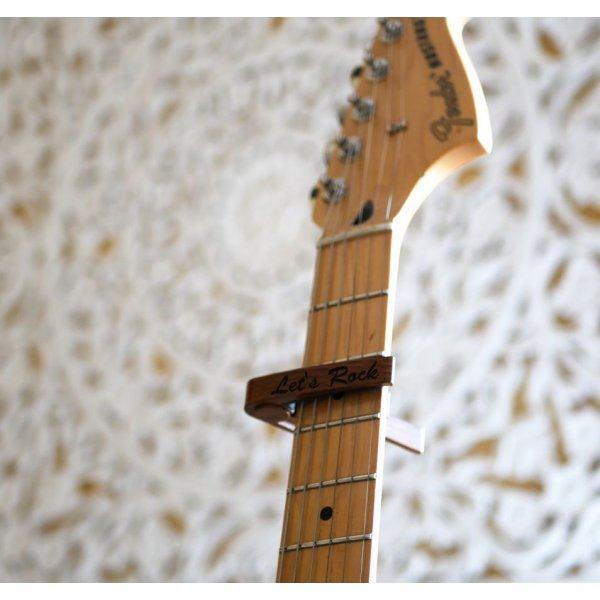 Capo guitare en aluminium gravé à personnaliser