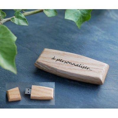 Clé USB en bois  à personnaliser par gravure