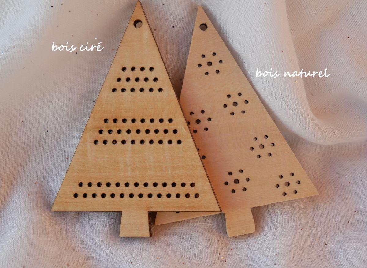 Boule de Noël en bois à décorer soi-même