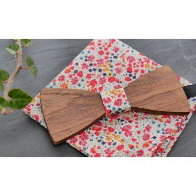 Ensemble Noeud en bois Pochette Broche papillon Liberty