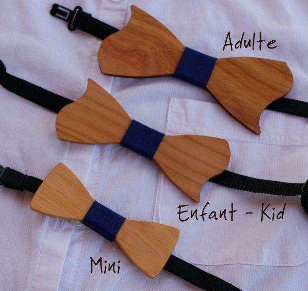 Mini noeud papillon en bois à personnaliser