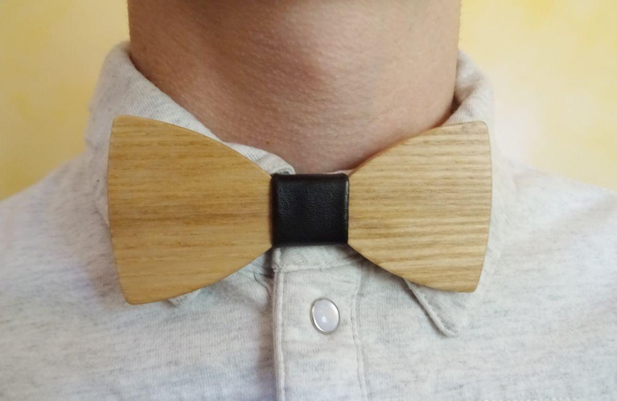 Noeud papillon en bois pour enfant à personnaliser