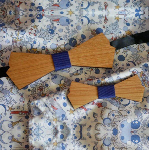 Noeud papillon en bois forme originale à personnaliser
