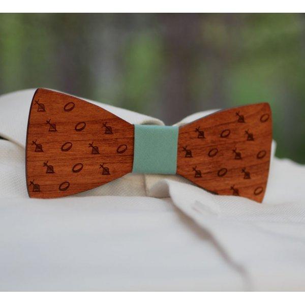 Noeud papillon en bois mini dessin gravés à personnaliser