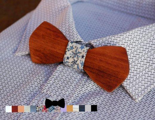 Noeud papillon en bois rablé à personnaliser