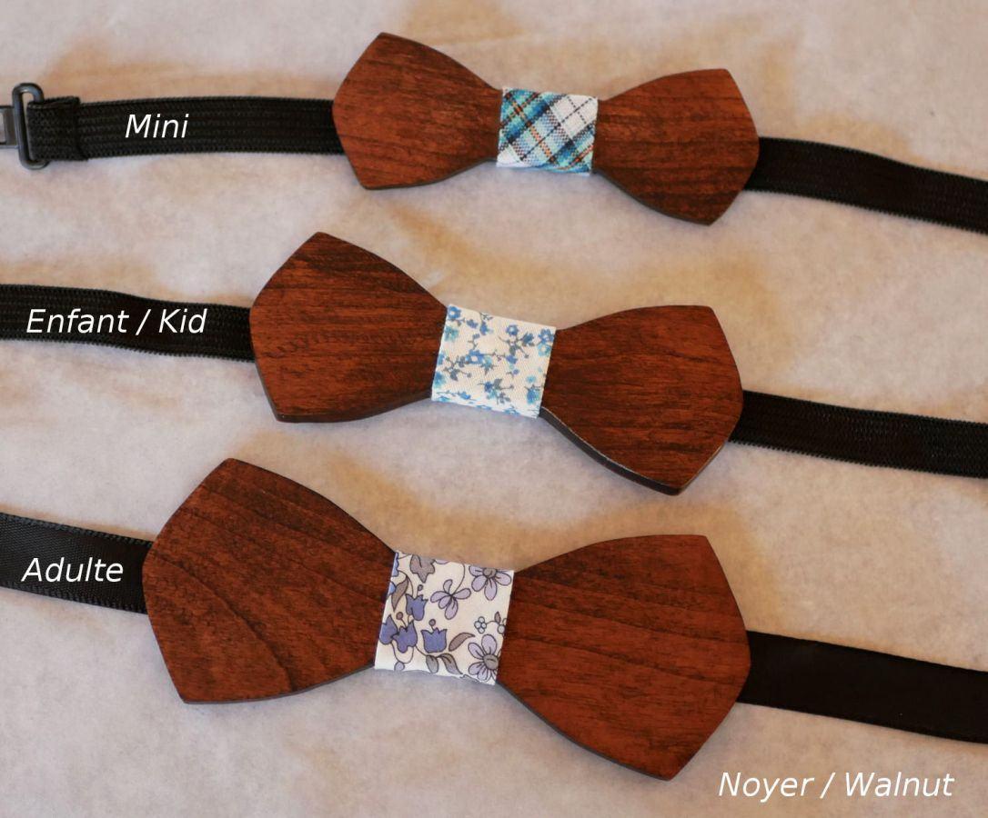 """Noeud papillon en bois Mini """"le rablé"""" pour enfant à personnaliser"""