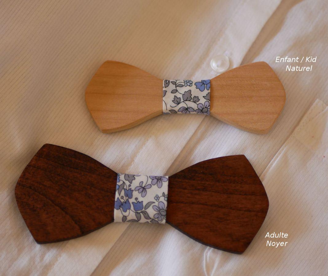 """Noeud papillon enfant en bois """"le rablé"""" à personnaliser"""