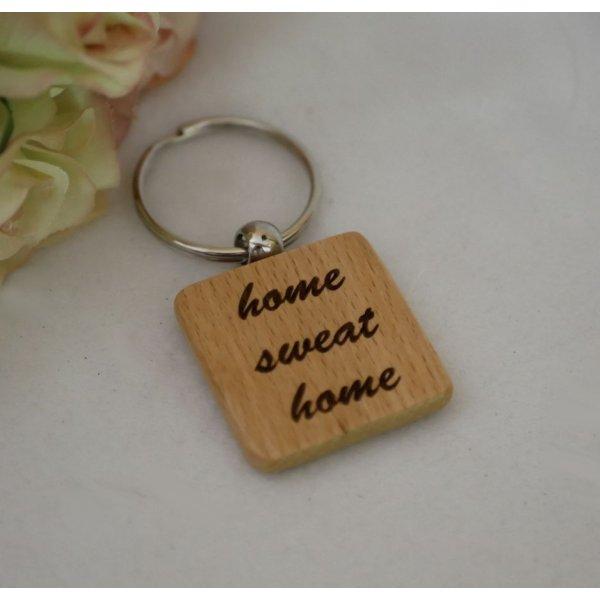 Porte clé en bois carré à personnaliser par gravure