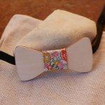 Noeud papillon pour bébé en bois peuplier à personnaliser