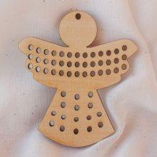 Ange de Noël en bois à broder et décorer soi-même